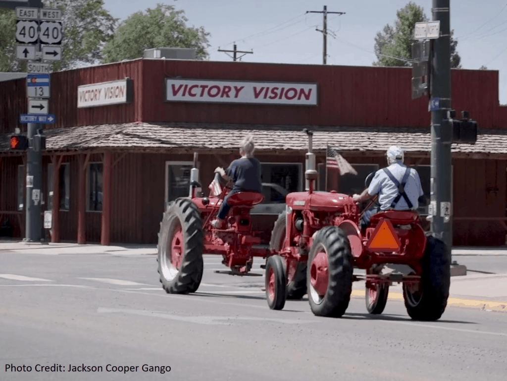 Tractors in Downtown Craig Colorado